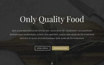Restaurant Web Layout